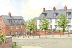 Buckinghamshire housing - traditional brick and rendered buildings