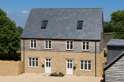 Tail Mill masterplan, Merriott, Somerset - traditional houses with Ham stone and timber cladding