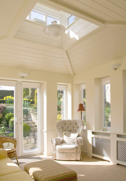 Extension to a house in Somerton, Somerset - traditional garden room with lantern