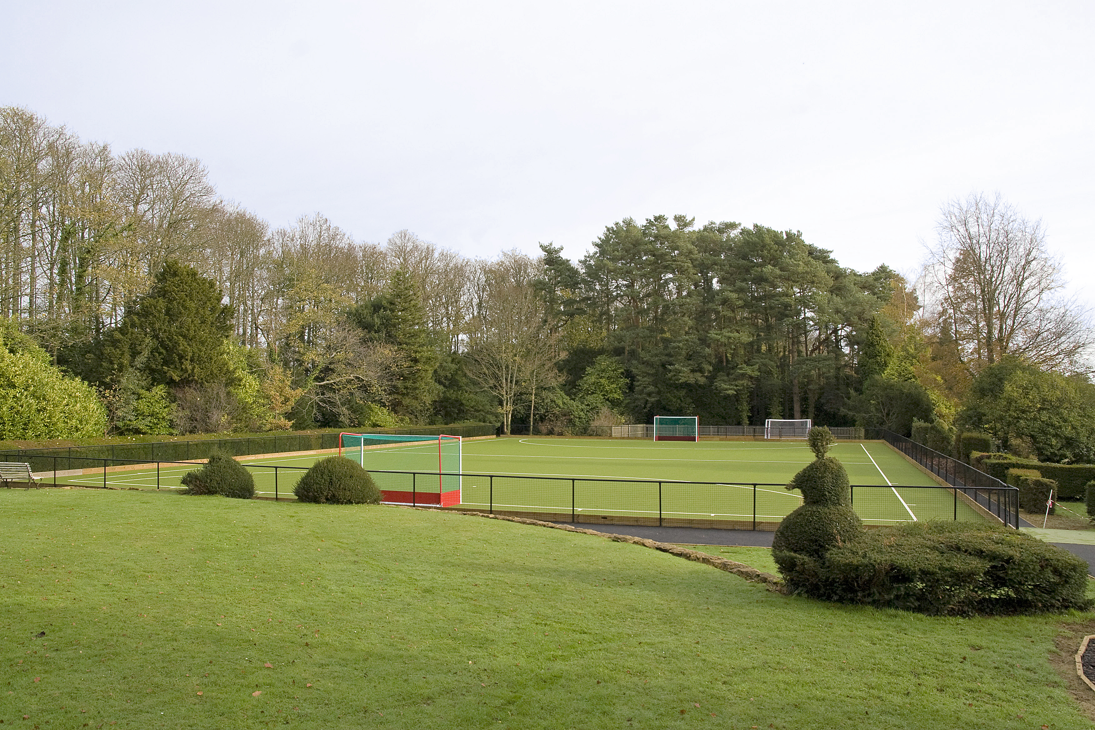 New hockey pitch - Perrott Hill School, Somerset