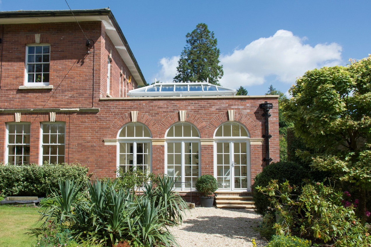 New classical orangery on a house near Crewkerne, Somerset