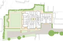 Sanditon apartments, Sidmouth - site plan