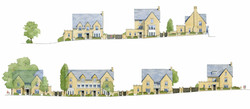 Harcourt Sands - street elevations with traditional houses