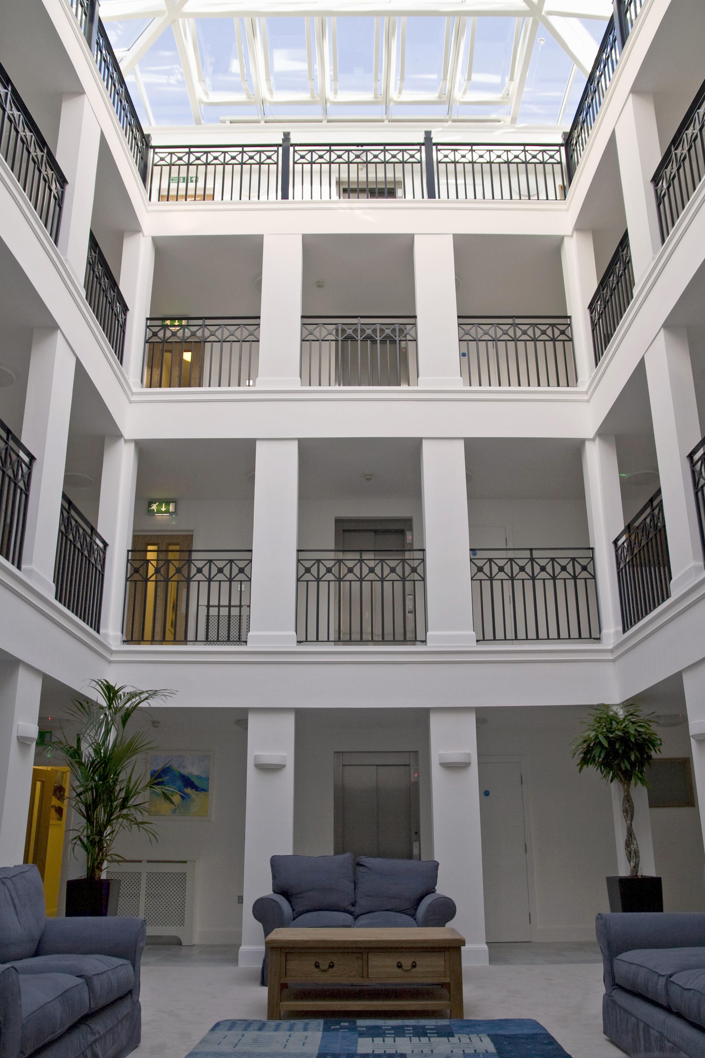 Sanditon apartments, Sidmouth, Devon - classical atrium
