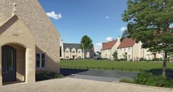 Traditional masterplan, Norton St Philip, Somerset - West Site village green