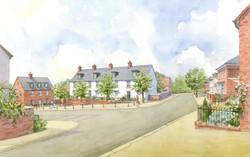 Buckinghamshire masterplan - traditional housing around a square