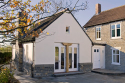 Traditional extension to a farmhouse near Langport, Somerset - exterior
