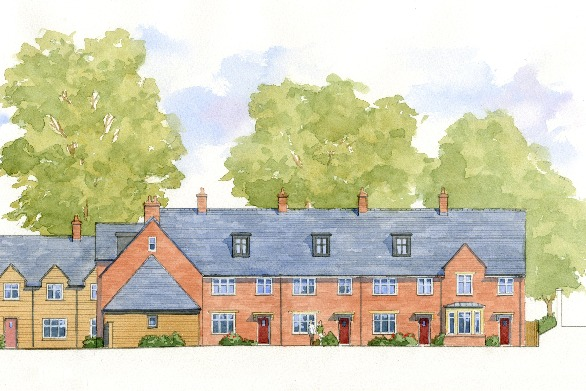 Nordon, Blandford Forum, Dorset - east elevation of traditional courtyard housing