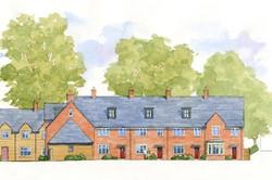 Nordon, Blandford Forum, Dorset - east elevation of traditional courtyard housing
