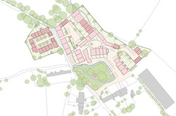 Tail Mill conversion and new-build traditional housing, Merriott, Somerset - masterplan