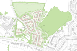 Buckinghamshire village housing masterplan