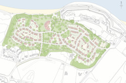 Harcourt Sands - masterplan showing houses and hotel