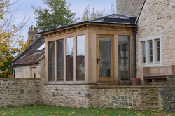 Oak frame garden room with lantern