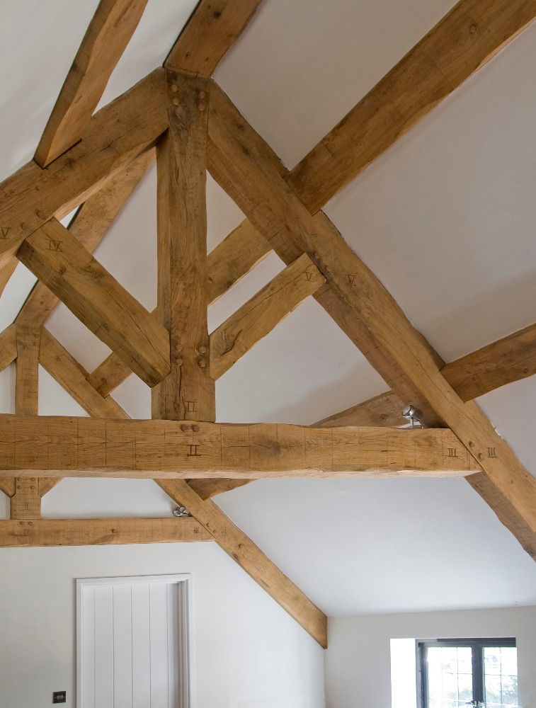 Conservation of a listed house near Ilminster, Somerset - new king post trusses