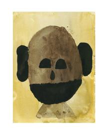 Maske, 2020, 18 x 24 cm, ink on paper