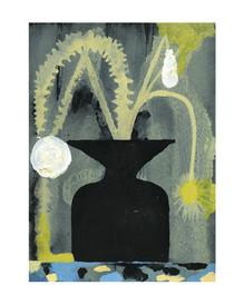 Kleine Blum II, 2020, 15 x 21 cm, ink and acrylic on paper