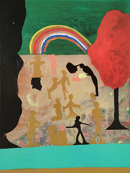Wiese, 80 x 60 cm, acrylic on canvas, 2020