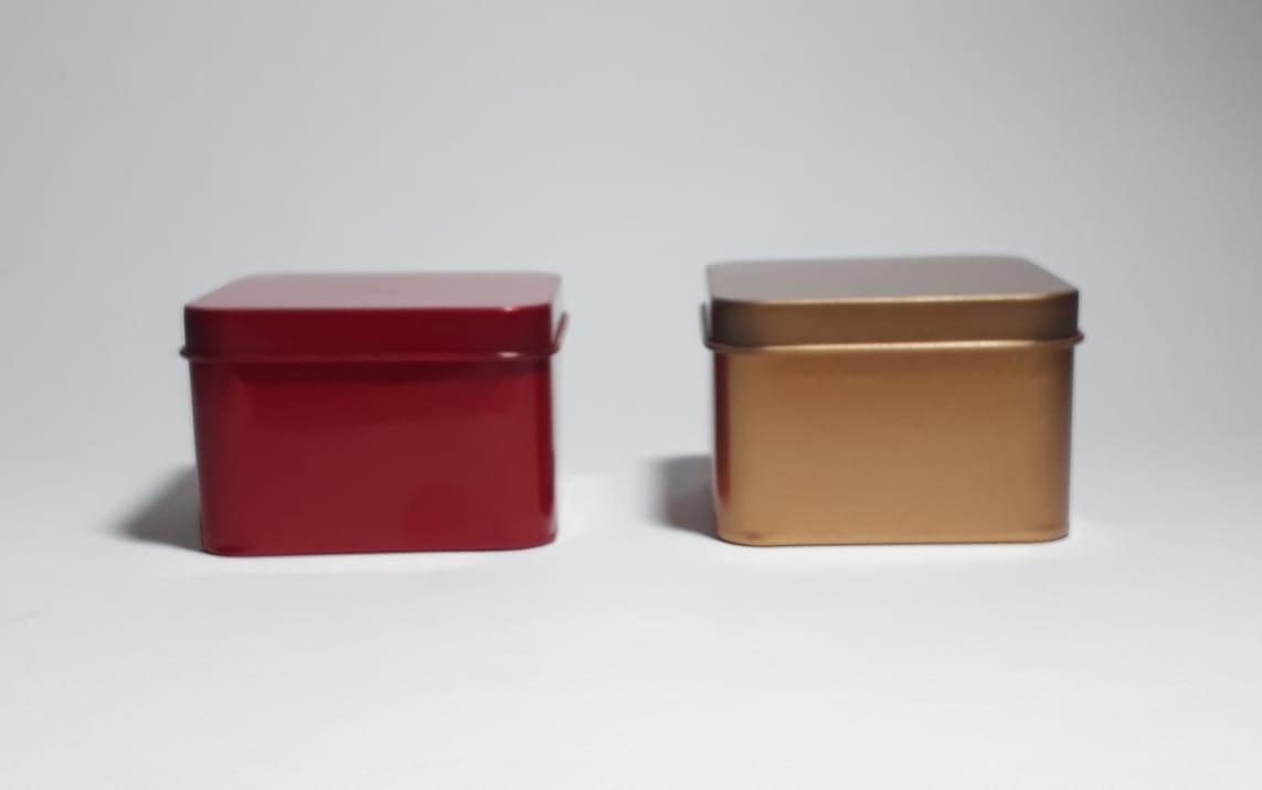 Latas de Metal Quadradas Lembrancinhas Luxo