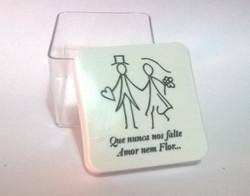 caixa 5x5cm personalizada noivos lembrancinhas