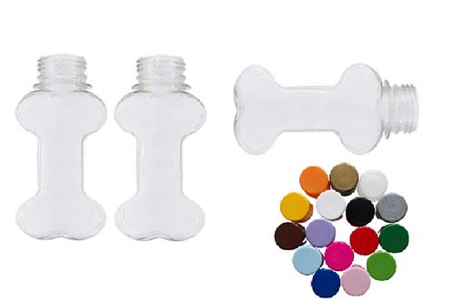 12 Tubetes Formato Osso Tampa Plástica Lembrancinhas