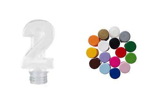 12 Tubetes Nº 2 - 2 Aninhos Tampa Plástica Lembrancinhas