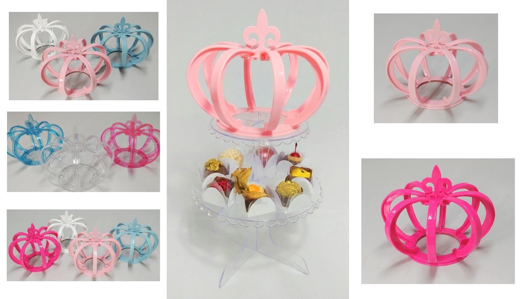 Coroa 3D Grande Decoração Mesa Realeza