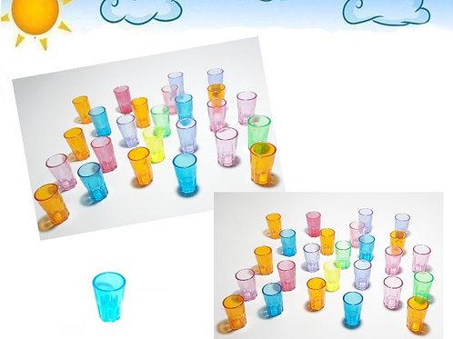 Kit 25 Mini Copinhos Cores Sortidas Lembrancinhas Festas