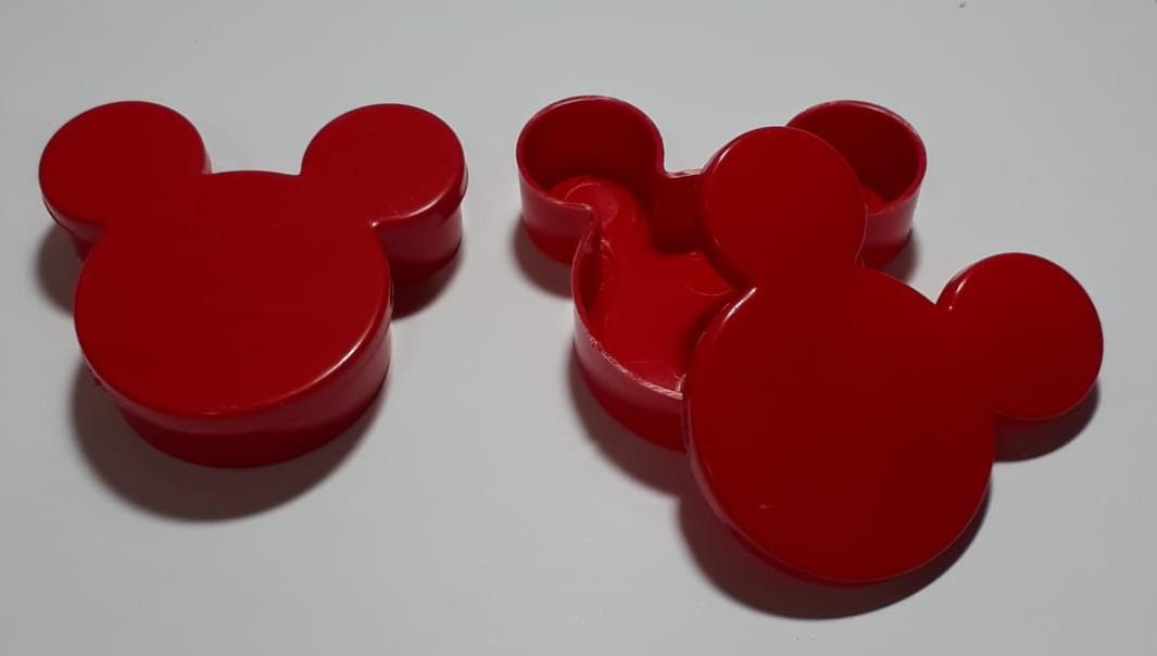 Caixa Plástica Minnie ou Mickey Lembrancinhas