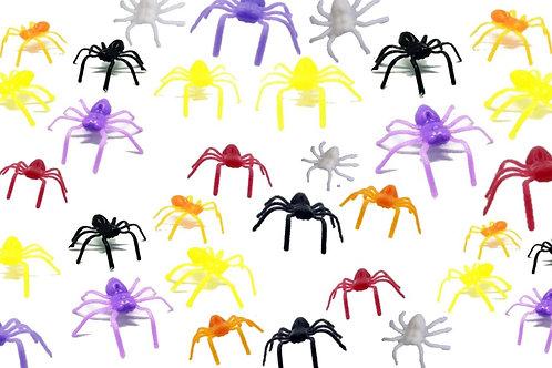 Kit 25 Mini Aranhas Color Brinquedo Sacolinha Lembrancinhas
