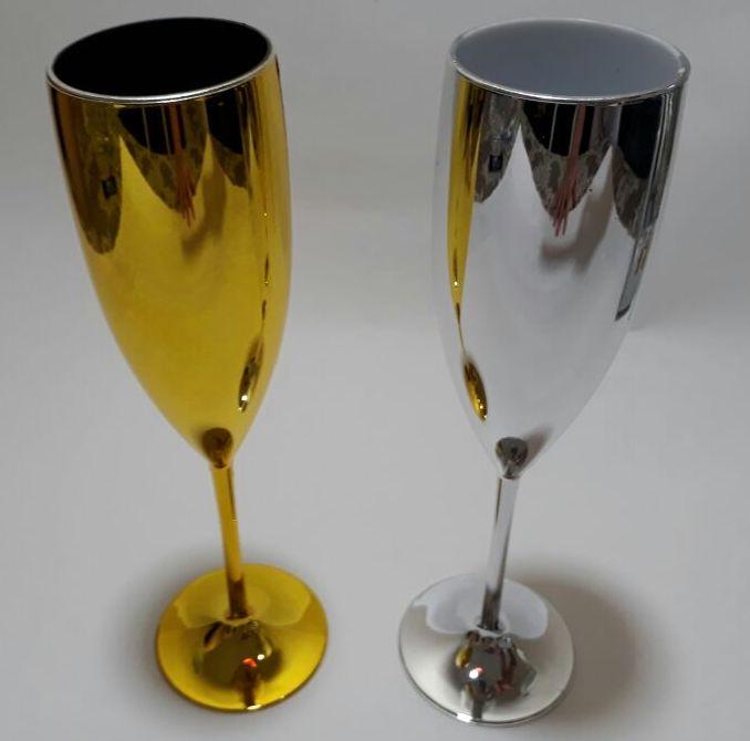 Taça Luxo Prata Dourada Lembrancinha