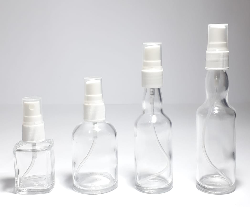 garrafinhas de vidro valvula home spray