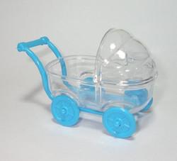 Carrinho Bebe Acrilico Azul