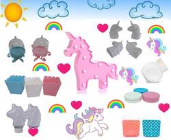 Kit Unicornio Candy Color Lembrancinhas