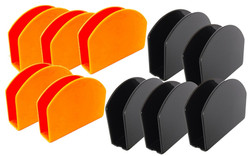 porta guardanapos acrilico laranja e preto lembrancinhas festas buffet