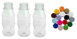 garrafa mini refri 100mL tampas plastica