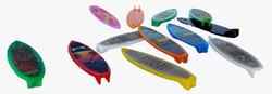 12 mini prancha de surf 8,3cm crismimo lembrancinhas