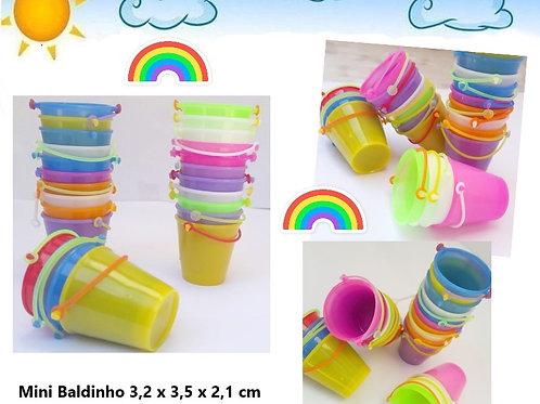 Kit 100  Mini Baldinho Plástico Festa Sacolinha Lembrancinhas