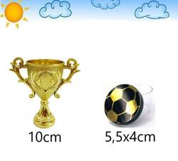 Kit Campeao Futebol Dourado Lembrancinha