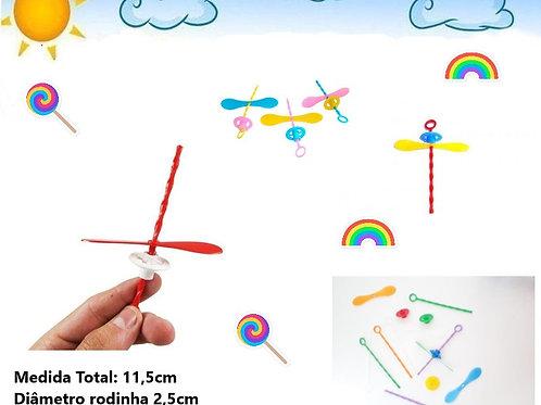 Kit 25 Mini Brinquedo Giro Hélice Sacolinha Lembrancinhas