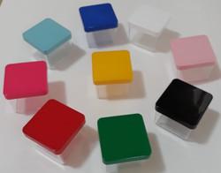 Caixa Acrilica 5x5cm Tampa Color