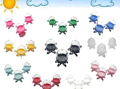8 Cúpulas Provençal Mini Boleira Com Suporte Lembrancinhas