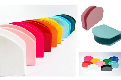 5 Porta Guardanapos Coloridos em Acrílico para Personalizar