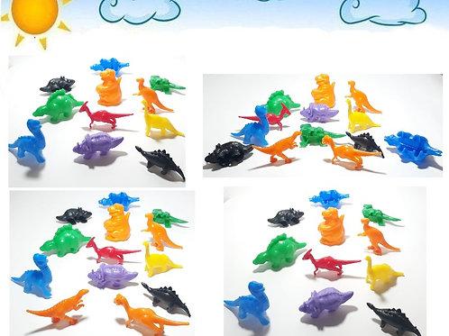Kit 24 Dinossauros Coloridos Sortidos Lembrancinha Animais