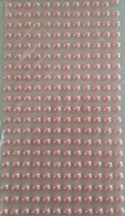 cartela meia perola 6mm rosa bebe lembra
