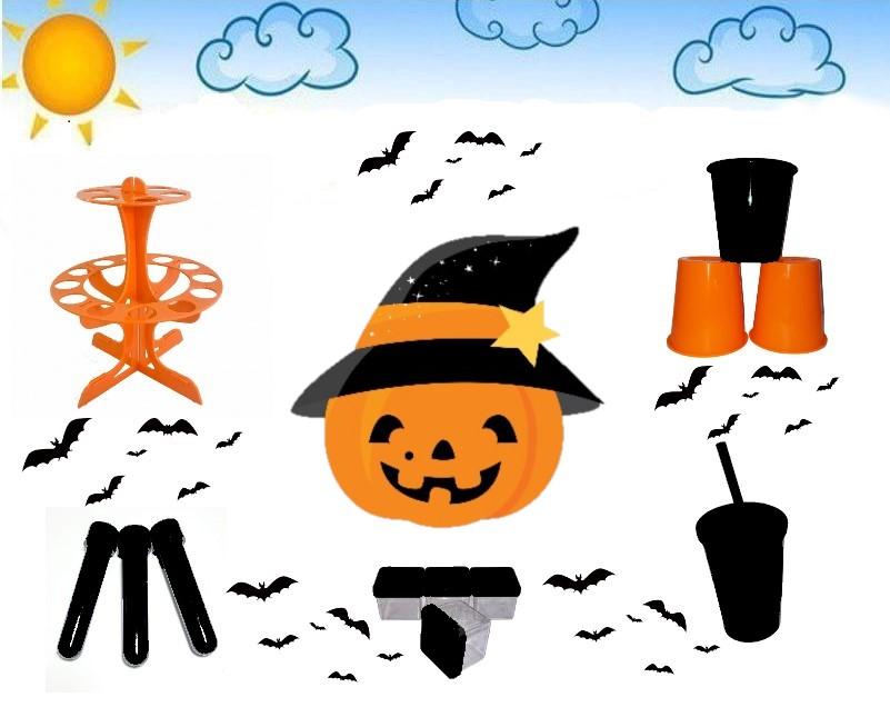 Kit Halloween Lembrancinhas Adescivos Vi