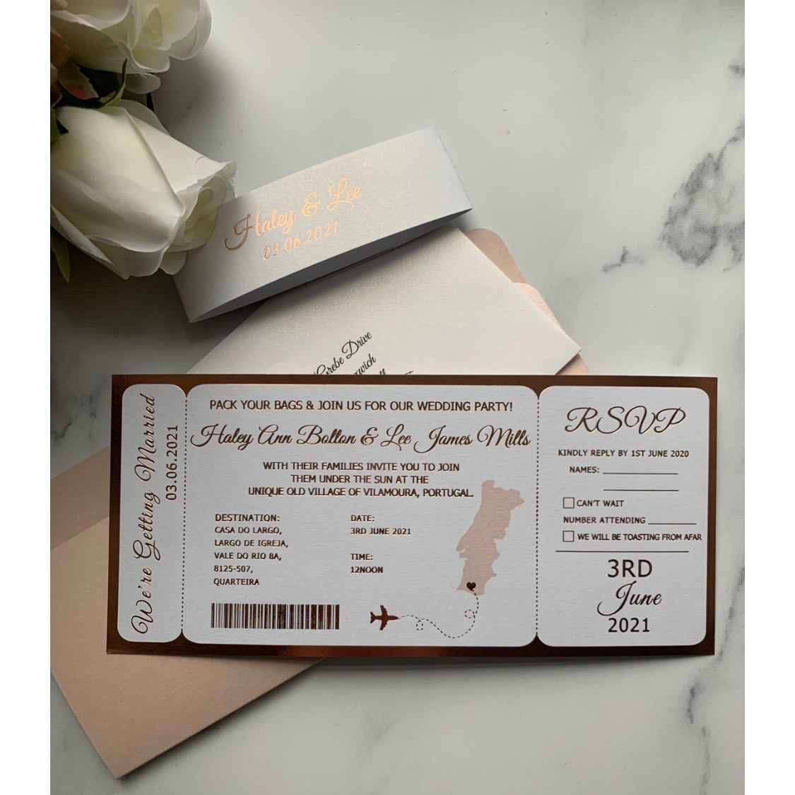 Boarding Pass Foil Printed