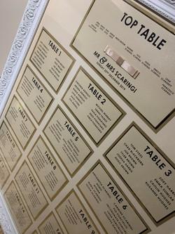Gold/Beige Shimmer Table Plan