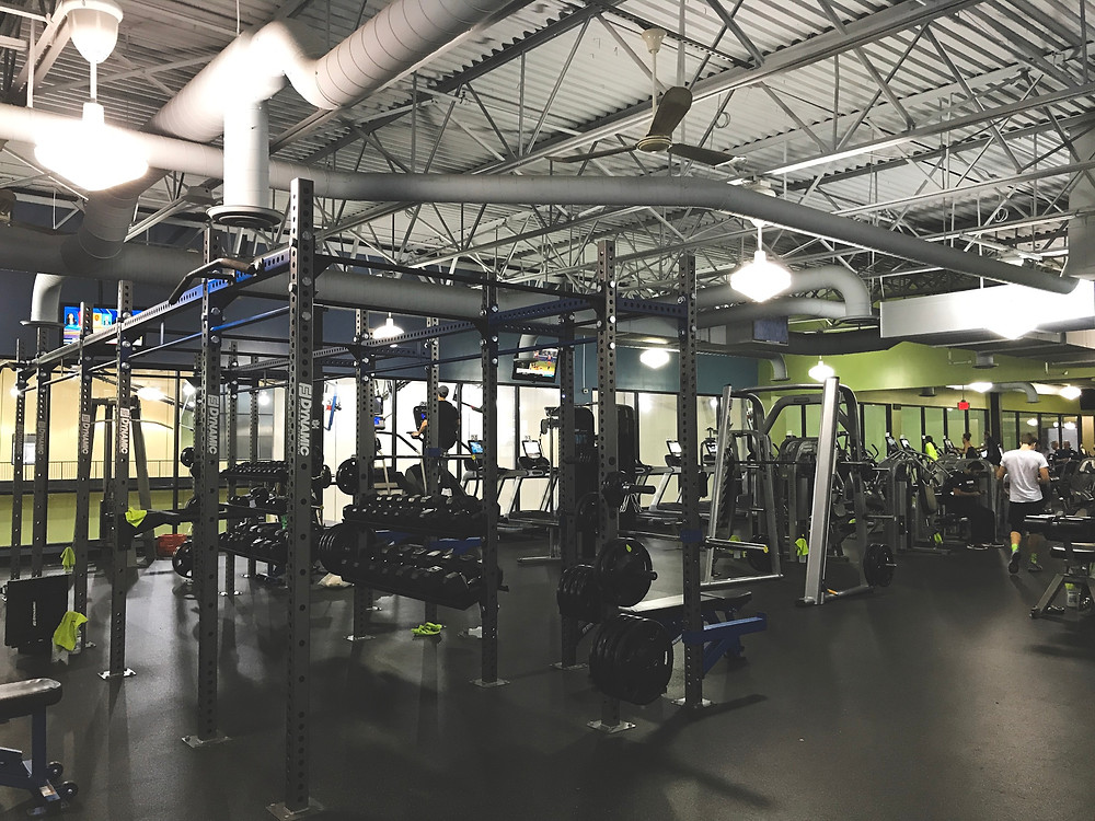 gym equipment, weights, cardio, stair master