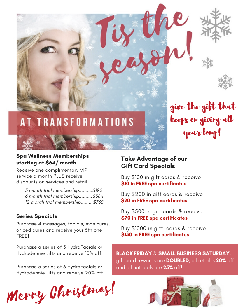 Indy spa, Indy salon, gift card idea, gift ideas, Christmas shopping, indy business, indy blogger