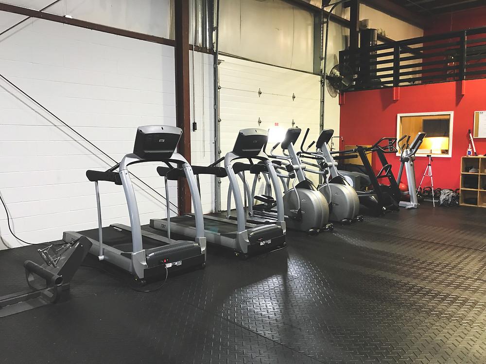 elliptical, treadmill, cardio, workout facility